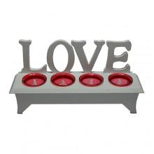 Castiçal LOVE com vela LED