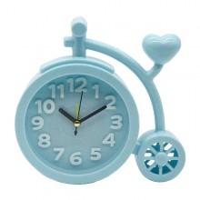 Relógio e despertador bicicleta azul