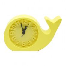 Relógio e despertador golfinho amarelo