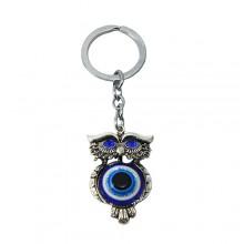 Chaveiro olho grego com coruja