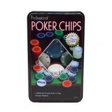 Kit com 100 fichas de poker