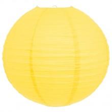 Luminária oriental papel 30 cm amarelo