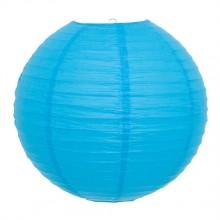 Luminária oriental papel 30 cm azul