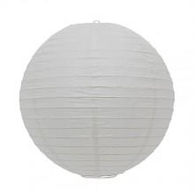 Luminária oriental papel 30 cm branco