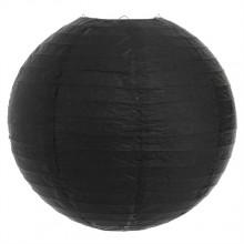 Luminária oriental papel 30 cm preto