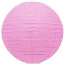 Luminária oriental papel 30 cm rosa