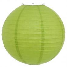 Luminária oriental papel 30 cm verde