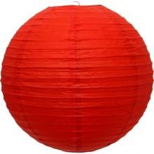 Luminária oriental papel 30 cm vermelho