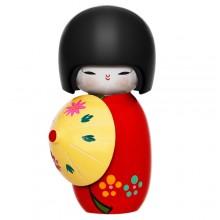 Boneca kokeshi vermelho