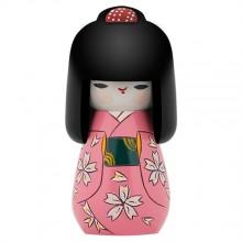 Boneca kokeshi rosa