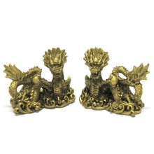 Casal dragão dourado